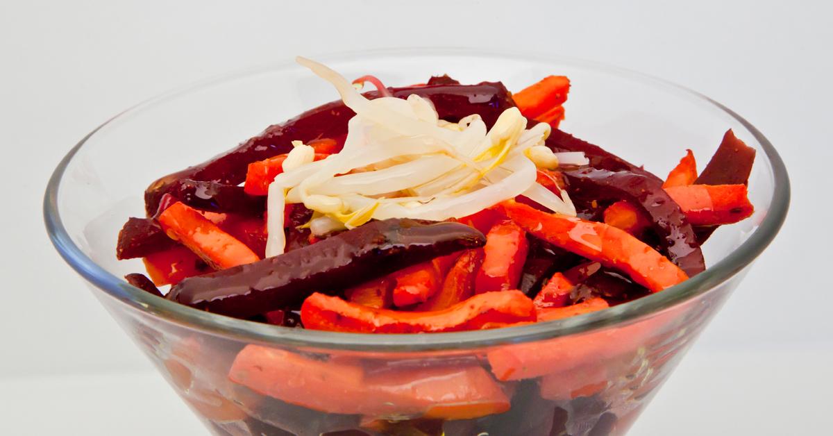 Juliana de zanahoria y remolacha al horno